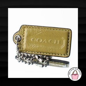 2.5″ Large COACH GREEN PATENT LEATHER KEY FOB
